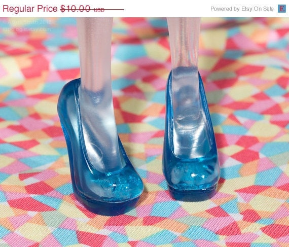 Monster High Doll Shoes - Translucent Peacock