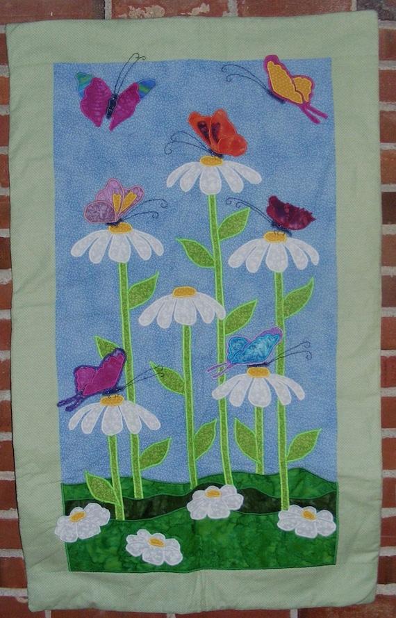 Butterflies & Daisies Baby Quilt
