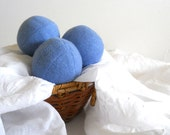 Wool Dryer Balls (Set of 4 in Victorian Blue) from Repurposed Holiday Sweaters