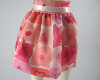 Pink Heart Skirt for SD MSD Ball Jointed Doll