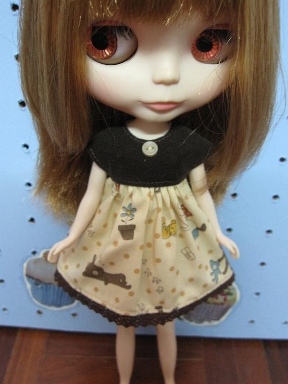 Sale 50% off  Dress for blythe doll 02