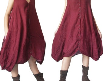 SALE... Sale...Double Layer Burgundy  Top or Dress Size S-L
