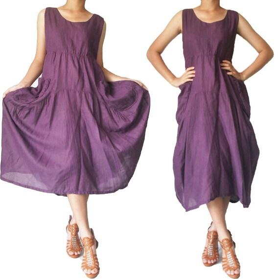SALE 30% off - Balloon Purple Long Dress