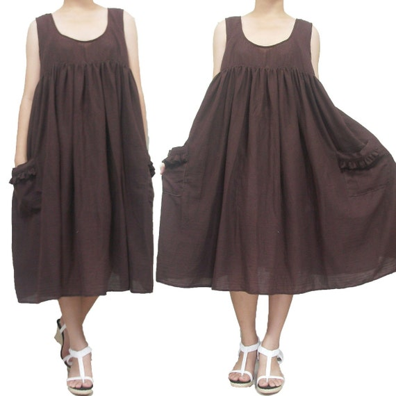 Brown Simply Dress size L-XL