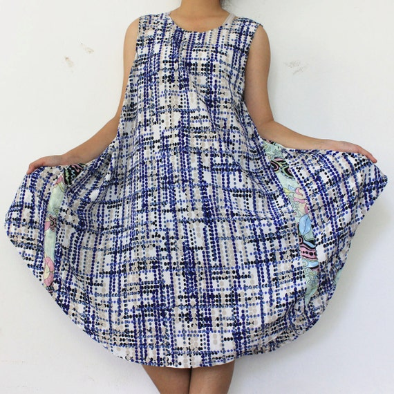 SALE 30% off - Blue tone  Dress size L-XL