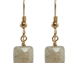 14K gold filled earrings with labrodorite
