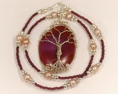 Tree of Life - Pendant with Freshwater Pearl Necklace