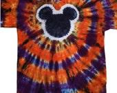 Kids Tie Dye Halloween Mouse Shirt