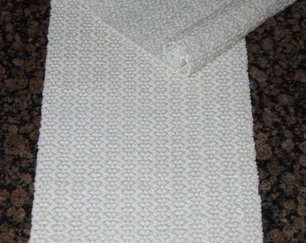 Handwoven Table Runners - White