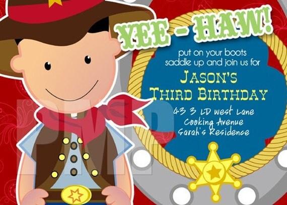 cowboy invitation cowboy Printable wildwest Birthday western – Wild West Birthday Invitations