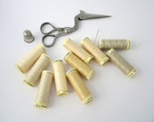 sewing thread best quality GUTERMANN shades of cream, ivory, off white 10 spools FREE SHIPPING