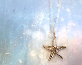 Under the Sea. Sterling Silver Starfish Necklace. Summer Fashion Jewelry