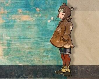 Little Boy Blue - Fine Art Print from my Original Drawing