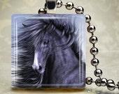 Black Stallion - Glass Tile Pendant (WHF8)