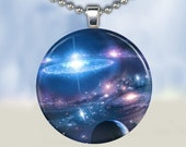 Galaxy of Light - Glass Tile Pendant (BSCA1)