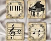 Music Magnet Set - Glass Squares (SSK)