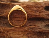Gold-Plated Handcarved Ring