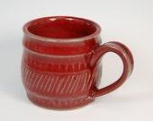 Handmade Mug - Pottery Mug - Ceramic Mug - Stoneware Mug - Coffee Mug  - Copper Red