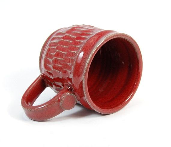 Handmade Mug - Pottery Mug - Ceramic Mug - Stoneware Mug - Coffee Mug  - Copper Red - Red Mug