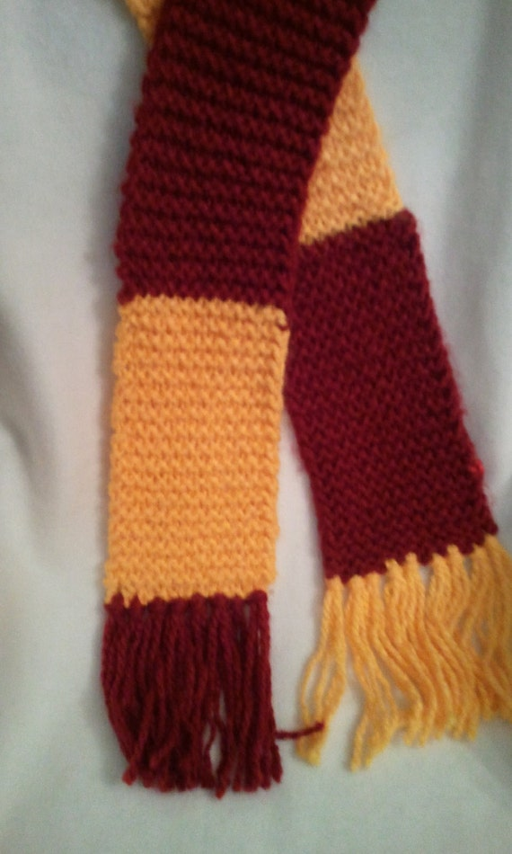 Snap Harry Potter Inspired Knitted Scarf Gryffindor Photos On Pinterest