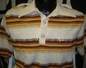 vintage hang ten stripe surf shirt