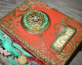 Small Book Rust and Teal Dream