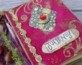 Small Book in Red Velvet - Journey