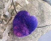 Purple Heart Felt Necklace