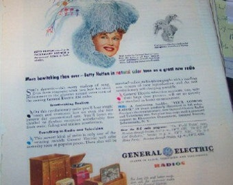 General Electric radios / Betty Hutton 1945