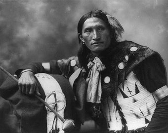 Edward Plenty Holes Sioux Indian Image 8 1/2 x 11 Image
