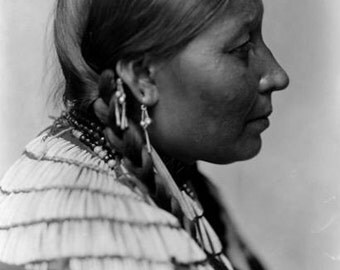 Wife of American Horse American Indian vintage Image 8 1/2 x 11 Image