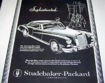 Mercedes Benz sophisticated Studebaker- Packard Corporation Advertisement