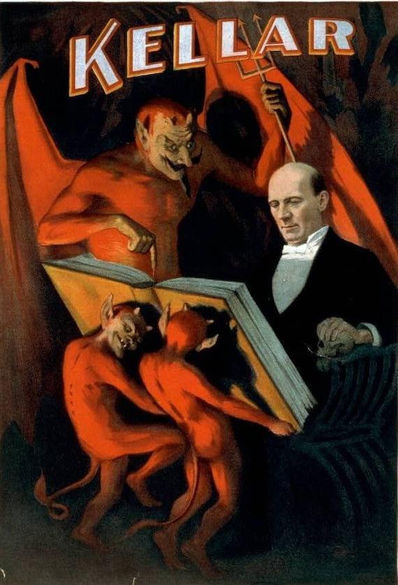 Kellar The Magician Devil Image