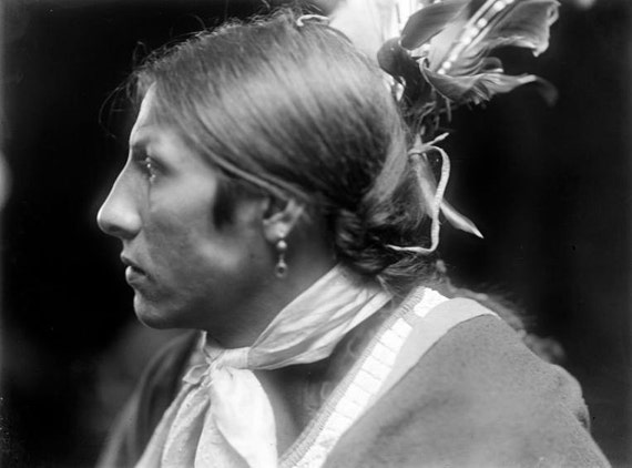 Indian Amos Two Bulls Sioux vintage Image 8 1/2 x 11 Image