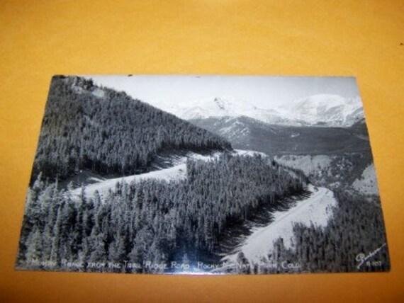 Mummy Range from Trail Ridge Road Rocky Mtn National Park RPPC