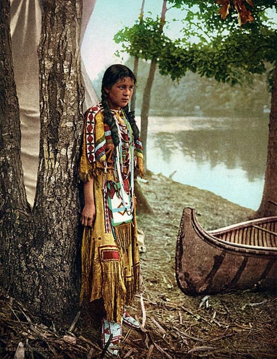 Digital image Minnehaha Native American image