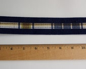 SALE 5 YARDS Vintage Preppy Navy Belt Trim