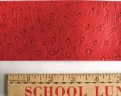 Red Vinyl Faux Snakeskin Belt Fabric 3 YARDS