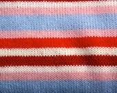Striped 80's Sweater Fabric
