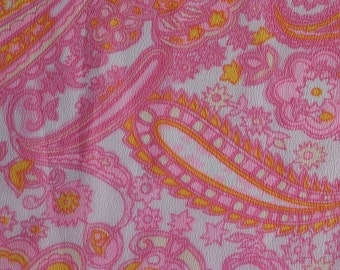 Vintage Polyester Flowy Fabric