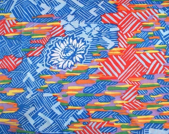 Vintage 80's Polyester Fabric