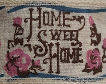 Vintage Home SWEET Home Ribbon