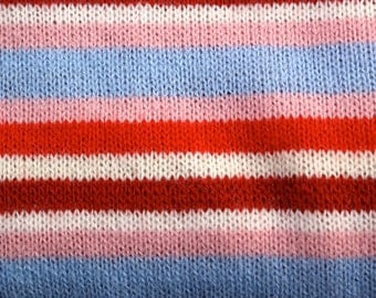 Striped 80's Sweater Fabric