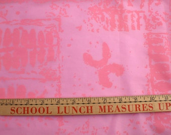 Vintage Hawaiian Pink Cotton Fabric