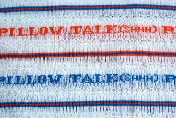 "Vintage 80's Fabric ""Pillow Talk SHHHH"""