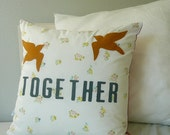 Together - Sparrows - Pillow Cover