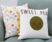 Sweet Pea - Pillow Cover - Brown