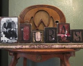Customized Last Name Sign Word Blocks  with Picture, Family Sign, Family Name Sign, great wedding and engagement gift