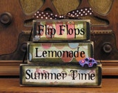 Flip Flops, Lemonade, Summer Time Word Stacker
