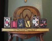 Summer  Sign - Let the Good Times Roll Word Blocks